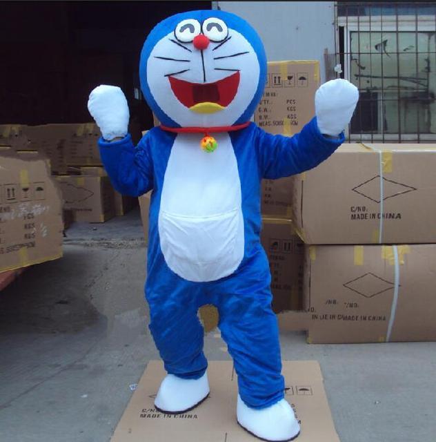 Super High Quality Doraemon Mascot Costume Robot Cat Cute Character Anime Manga Adult Suit