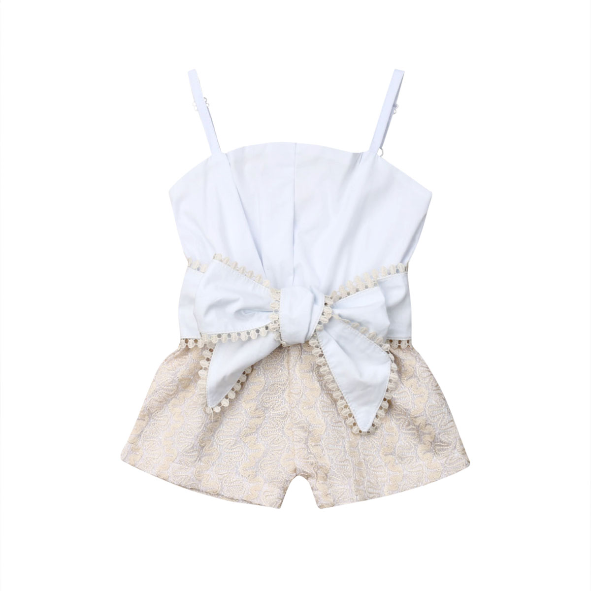 33233b222 Infant Kid Baby Girl 1-4Y Summer Romper Lace Sling Openwork Bow Rompers Top  Sunsuit Clothes Sets ~ Super Sale June 2019