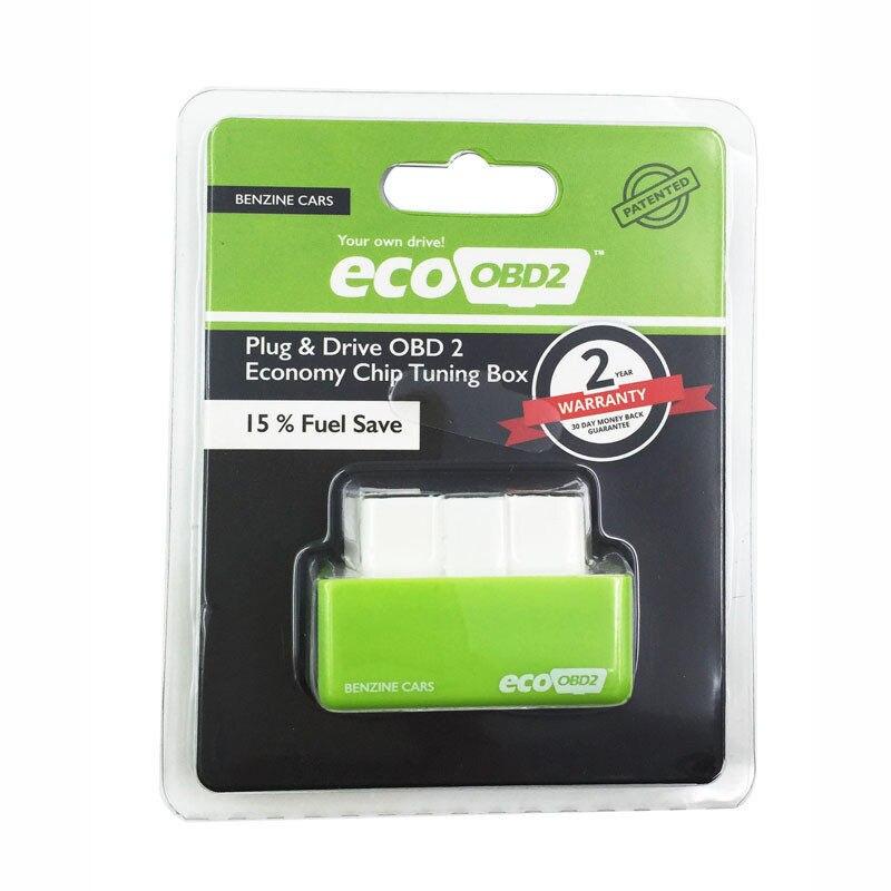 Зеленый цвет OBD2 сканер ecoobd2 Пособия по экономике чип тюнинг коробка для 15% топлива Save plug & drive меньше топлива и ниже выбросов