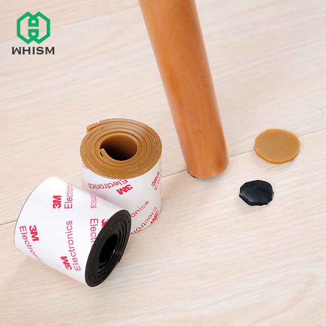WHISM Silicone Self Adhesive Furniture Chair Legs Floor Protector Non Slip  Sticky Cabinet Table Feet