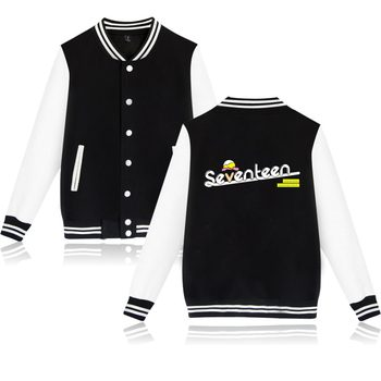Korean Boy Group Seventeen Jacket idol group Seventeen Clothes Kpop Seventeen Sweatshirt Baseball Jacket For Young Plus Size фото