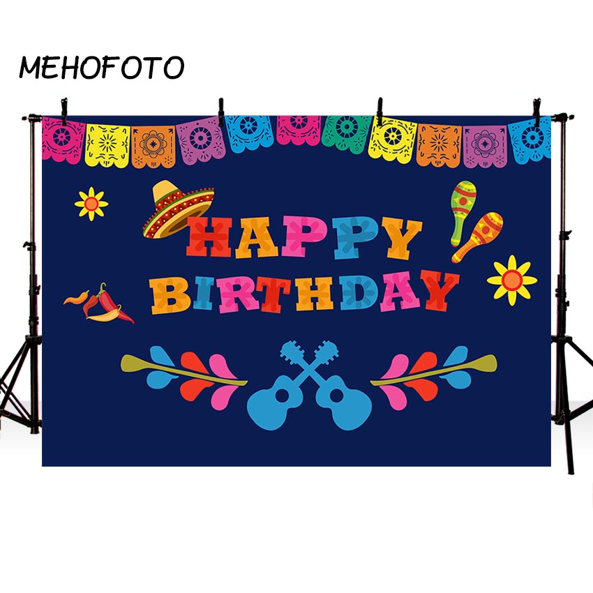 US $8 78 44% OFF|Mexico Fiesta Theme Backdrop Coco Birthday Party  Photography Background Party Supplies Banner Fiesta Event Decoration-in  Background