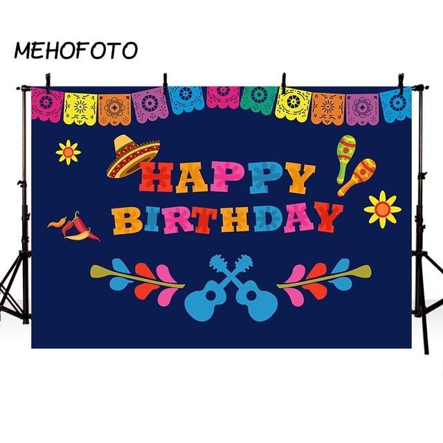 Mexico Fiesta Theme Backdrop Coco Birthday Party Photography