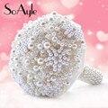 SoAyle venta Caliente Wedding Bouquet 2016 nobleza boda flores 23 cm * 25 cm 0.8 kg Artificial Perlas Del cristal Del Rhinestone perlas