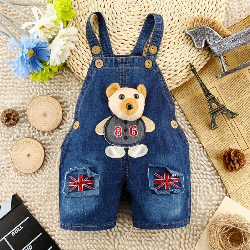 IENENS Baby Girls Jeans Denim Clothing Pants Kids Girl Overalls Clothes Trousers