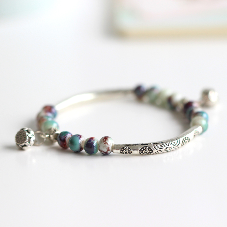 New Arrival Fashion Delicate Jewelry National Style Handmade Ceramic Bracelet & Bangles Colorful Beaded For Women Accessories