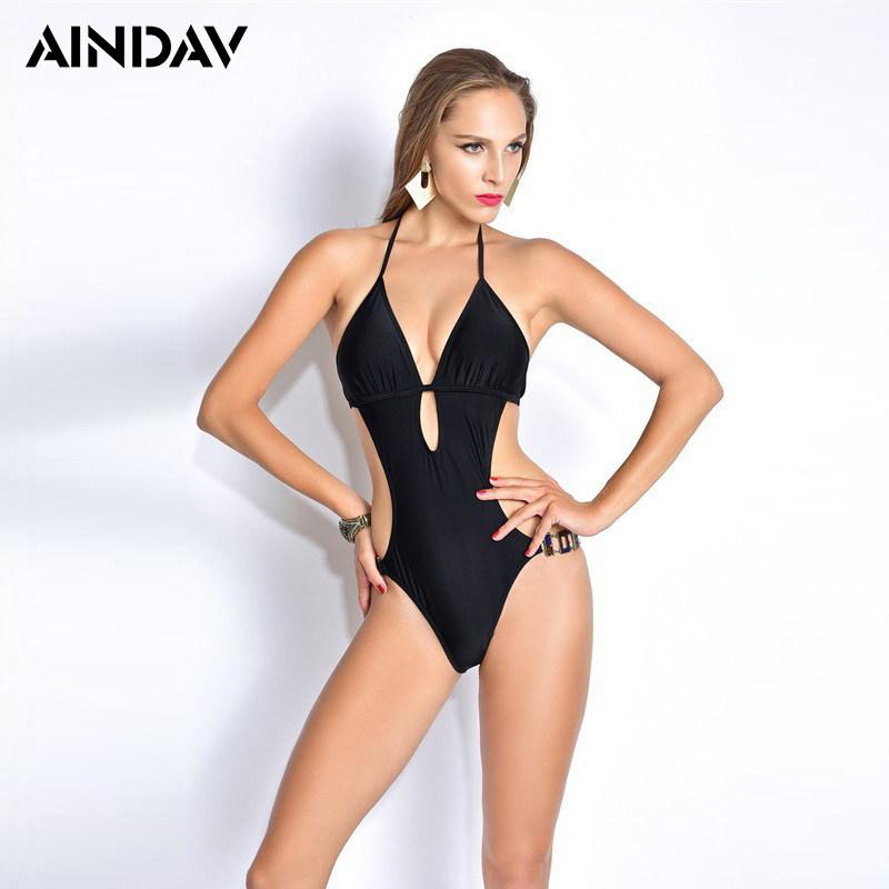 Ratio Sexy High Cut Swimsuit Backless Swimwear Women One Piece Bathing Suit Cut Out Sides Body Suit Trikini Monokini Badpak one piece swimsuits trikinis high cut thong swimsuit sexy strappy monokini swim suits high quality denim women s sports swimwear