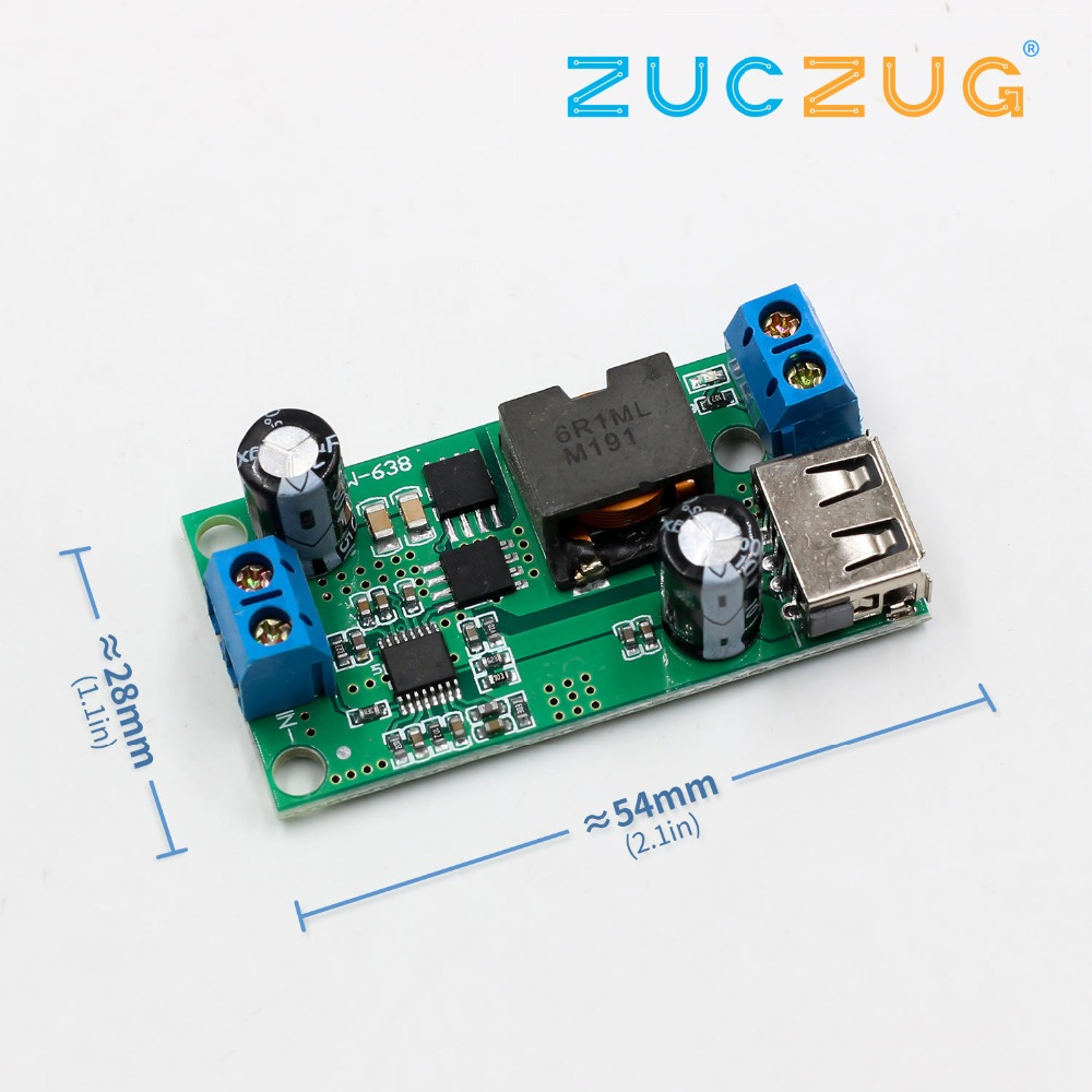 Electronic Components & Supplies Integrated Circuits Dutiful 24v/12v To 5v/5a 25w Dc-dc Buck Step Down Power Supply Module Synchronous Rectification Power Converter Replace Lm2596s