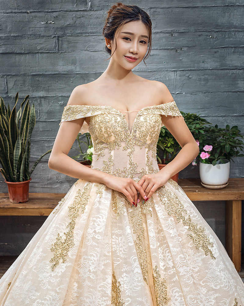 J66651 jancember suknia balowa suknia ślubna krótkie rękawy kaplica pociąg off the shoulder sweetheart suknia panny młodej robe de mariage