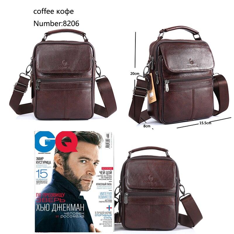 Image 5 - Men Bag Messenger Bag Genuine Leather Bag Shoulder Handbag Luxury Handbags Flap Crossbody Bags For Men 2019 Fashion KSKCrossbody Bags   -
