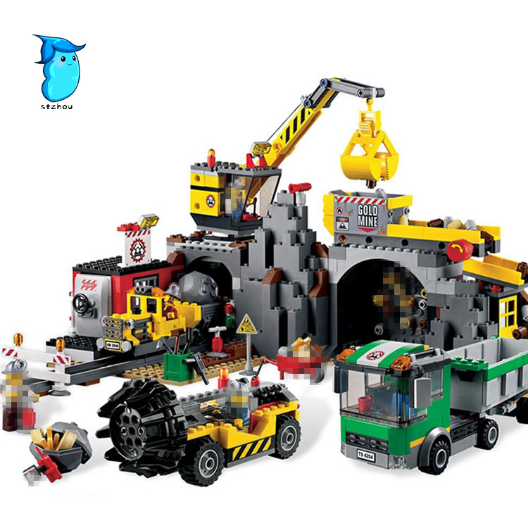 StZhou 838pcs Lepin City Series the City Mine Set Model & Building Blocks Bricks  Educational Children Toys Christmas Gift sermoido 02012 774pcs city series deep sea exploration vessel children educational building blocks bricks toys model gift 60095