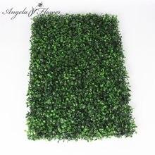 Milan Eukalyptus kunststoff pflanzen wand Shop hotel DIY hochzeit Decor rasen kunststoff pflanzen blume blatt grüne wand dekorative 40*60cm