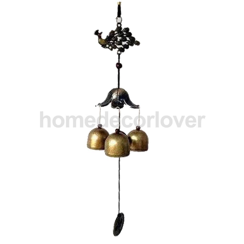 Chinois Paon Cloche De Cuivre Chanceux Feng Shui Suspendus Charme Vent Carillon dans Figurines et Miniatures de Maison & Jardin