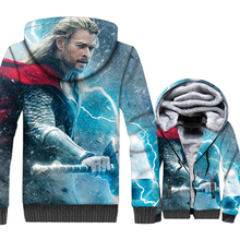 Thor Super Hoodies Hipter Winter Thick Sweatshrit Hip Hop Unisex Zipper Hoodie Hoody Streetwear Mens Clothing 2019 Superhero Top