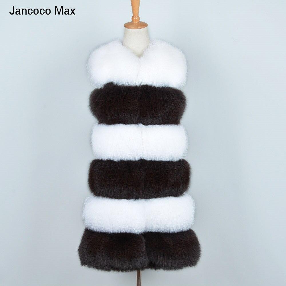 Jacken & Mäntel Neue Mode Echten Fuchs Pelz Westen Frauen Echte Pelz Gilet Mode Streifen Weste Herbst Winter Warme Weibliche Natürliche Pelz Weste S7262