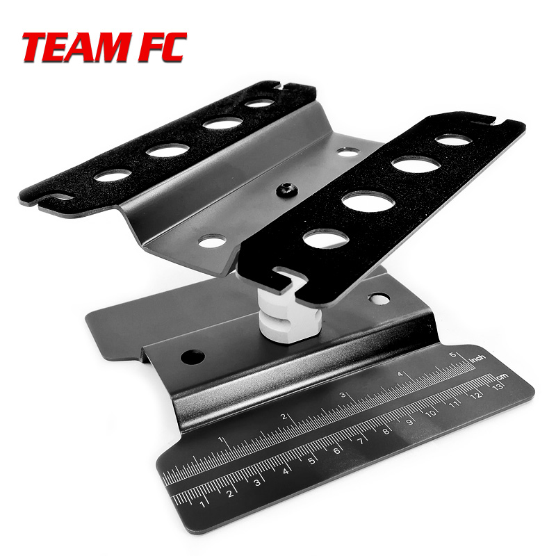 360 Black Degree Rotate Work Stand Repair Station Assembly Platform For 1/8 1/10 Scale RC Model Car TRX-4 Axial  S26
