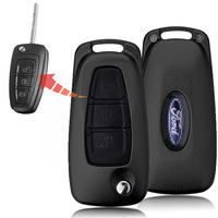 1pcs Folding Flip Remote Car Key Shell Case Cover 3 Button For FORD Focus 2 3