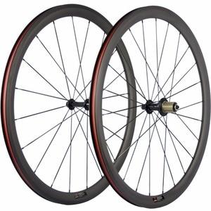 Image 2 - Paire de roues de vélo en carbone Ultra léger 38/50/60/88mm roues de pneu en carbone roue de vélo de route tubulaire Surface de freinage en basalte