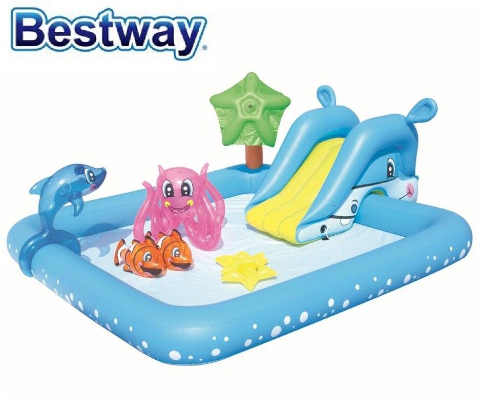 53052 Bestway 2.39 m X 2.06 m X 86 cm fantastique Aquarium jouer piscine 53052 94