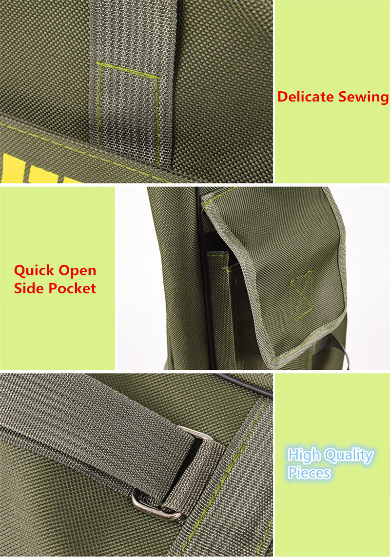 Double Layer Canvas Fishing Bag 100cm 150cm Portable Folding Fishing Rod Bag Fishing Tackle Carrier Bag (6)