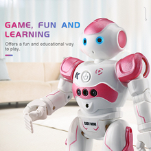 RC Robot Toy JJRC R2 2.4G Intelligent Programming Gesture Sensor Singing Dancing Display Candy Action Figure Robots Toy for Kids