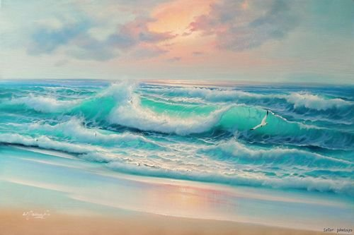 Surf Art Print Gordon&#39-s Wave airbrush