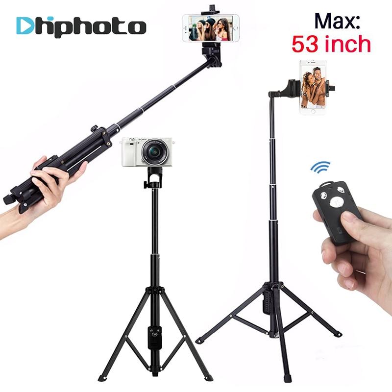 3 en 1 Handheld trípode Selfie Stick Bluetooth Mini trípode Monopod trípode de viaje para cámara iPhone Gopro Smartphone SJCAM