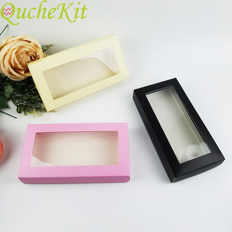 6pcs DIY Paper Gift Box With Window Muffin Cake Packaging Box Cookies Cake Homemade Display Box Christmas Wedding Home Party