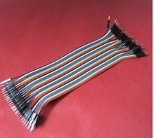 цена на 40PCS/LOT 15CM Dupont Wire Color Jumper Cable 2.54mm 1P-1P male to male