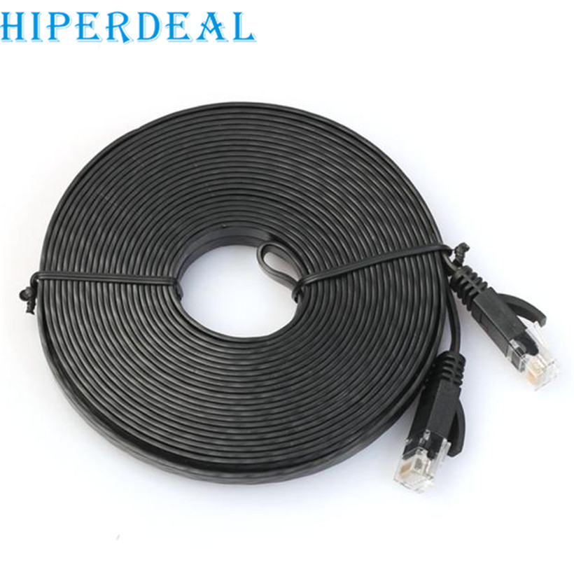 Top Department Store Store HIPERDEAL advanced cable 100cm Flat Cat6 Network Ethernet Patch Cable Modem Router RJ45 for LAN Network drop shipping 1PC