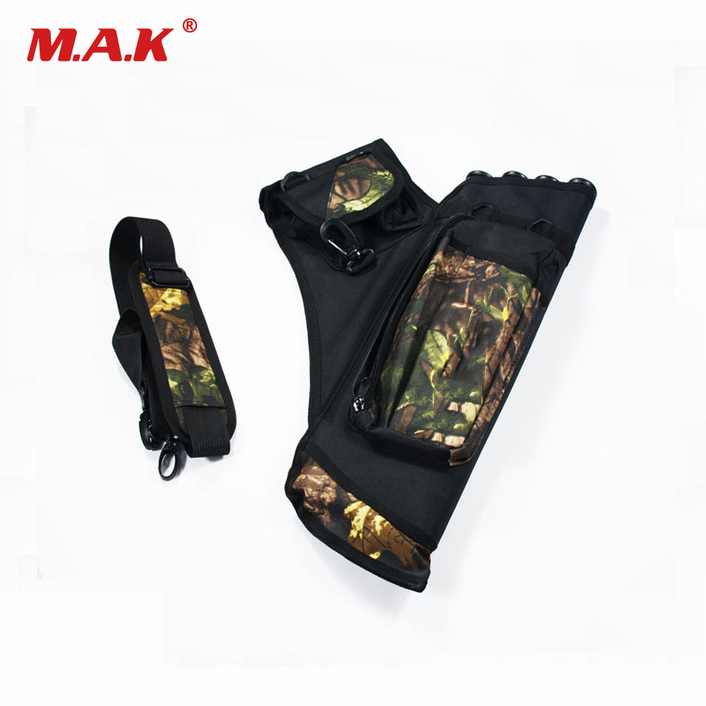 High Quality 4 Tubes Arrow Quiver Waterproof Archery Quiver in Camouflage Arrows Holder Bag for Reverse Bow Hunting Shooting bow quiver arrow with 12pics arrows fiberglass telescopic quiver tube canister for compound bow archery arrows