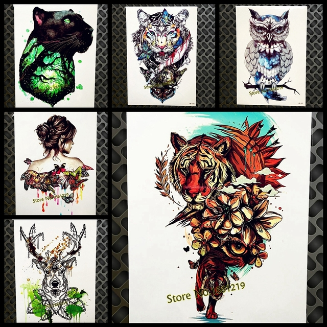 Distintivo Flash Temporal Tatuaje Subida Tigre Salvaje Flor Brazo