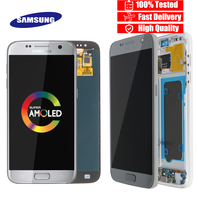 High quality ORIGINAL 5 1 LCD Replacement for SAMSUNG Galaxy S7 Display G930 G930F Touch Screen
