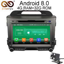 Sinairyu 4G RAM Android 8 0 Car DVD For Kia Sportage 2010 2011 2012 Octa Core