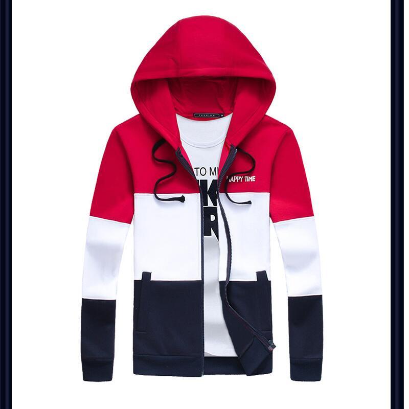Для мужчин с капюшоном молния Толстовки, кофты 2016 Новые весенние  Спортивная большой размер M-5XL 16d051e6e0e