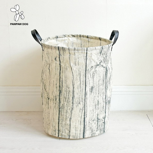 Large Eco Friendly Laundry Basket Canvas Toy Storage Baskets Bins Nursery With Handles 35x45cm