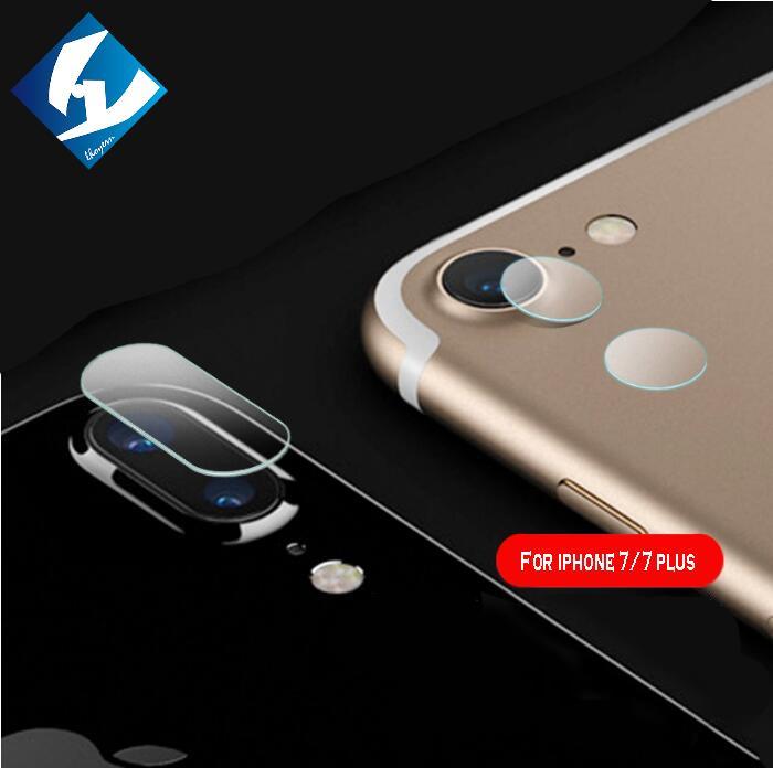 imágenes para 100 unids/lote protector de la cámara para iphone 7 7 plus 0.3mm cubierta de la lente de cristal templado película protectora con toallitas húmedas + al por mayor