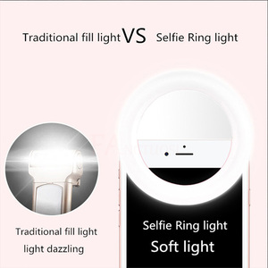 Image 2 - FANGTUOSI Selfie Ring Light Portable Flash Led Camera Phone Photography Enhancing Photography USB Charge Ring Light for iPhone
