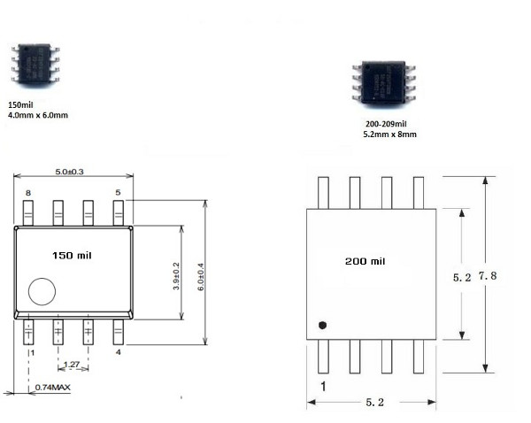 SOIC8 to DIP8
