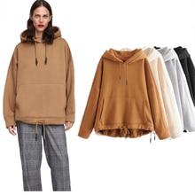 Women hoodie Sweatshirts hooded Early autumn kangaroo solid hooded regular fashion Women's hoodie plus size