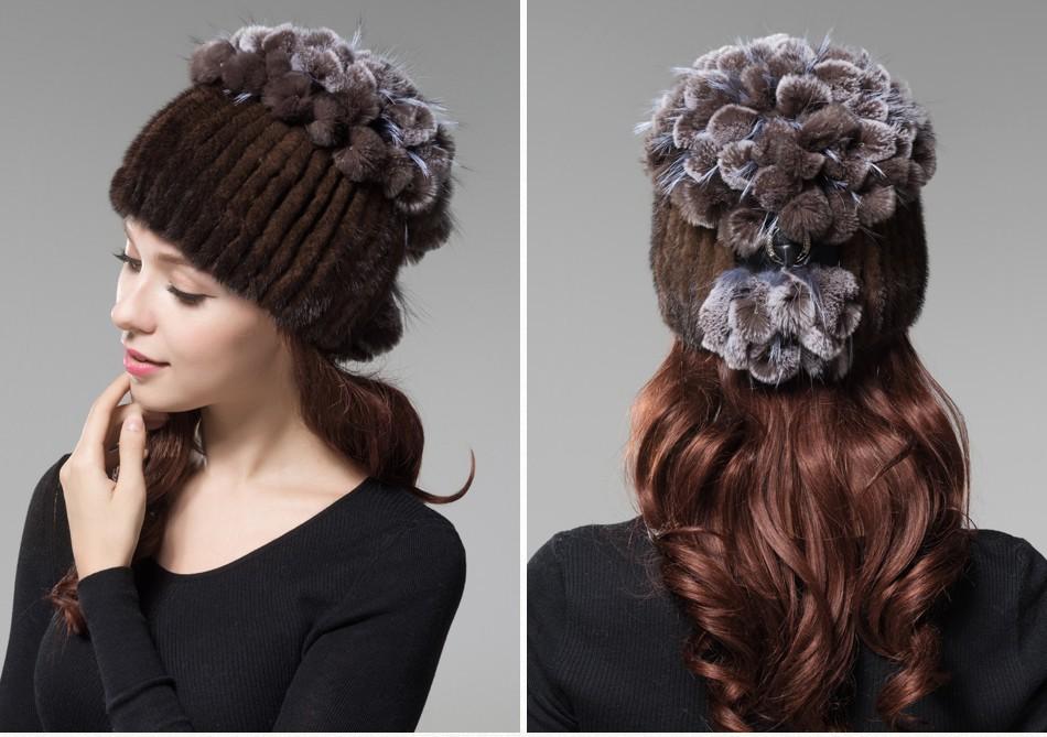 mink fur hats female winter PCM016 (22)
