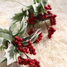 LINMAN 10pcs/lot red foam small artificial berries flower simulation fruit for Take props Christmas decoration DIY Design