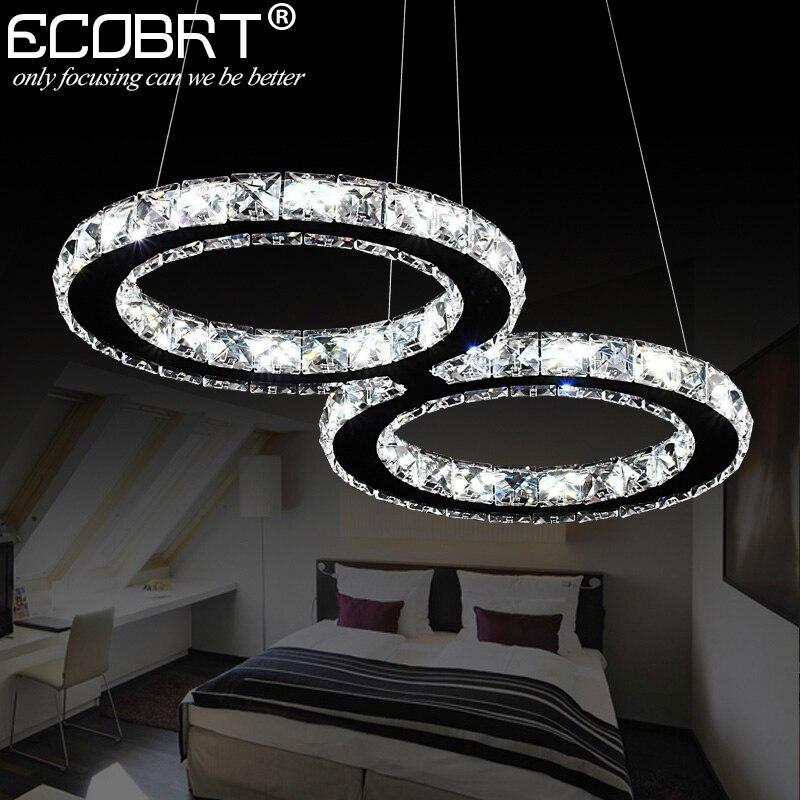 cool cheap lighting. ecobrt led crystal pendant lights 24w creative restaurant cord lighting fixture modern style cool white cheap m
