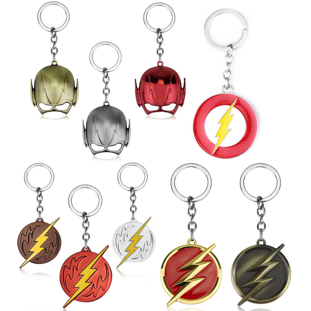 Hot Marvel Movie The Flash Key Chains Holder Fashion Metal Alloy Superhero Keychains Keyring Jewelry Graduation Gift Best Friend