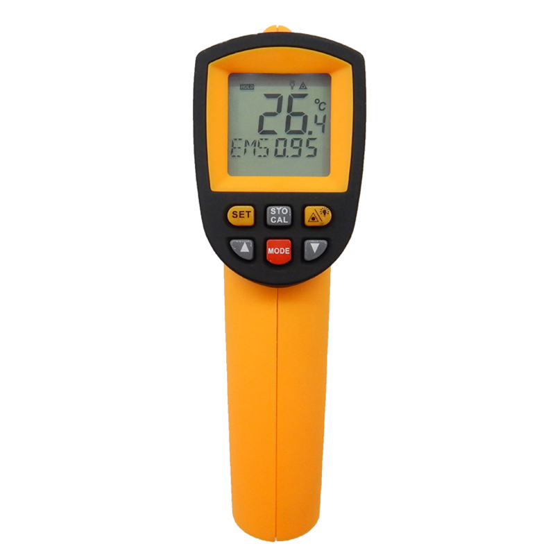 ФОТО Digital ir infrared thermometer GM900 non contact infrared thermometer Gun Thermometer -50~950C (-58~1742F) 0.1~1.00 adjustable