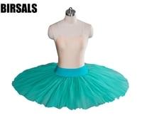 Adult Half Green Professional Ballet Tutu Girls White Ballerina Ballet Half Tutu Dress Classical Ballet Stage