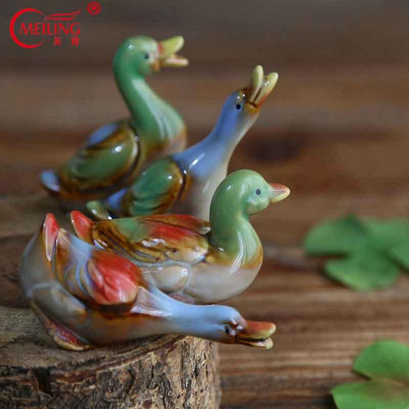 Liuli Crystal Mandarine Duck Figurine Paperweight Wedding Anniversary Gifts