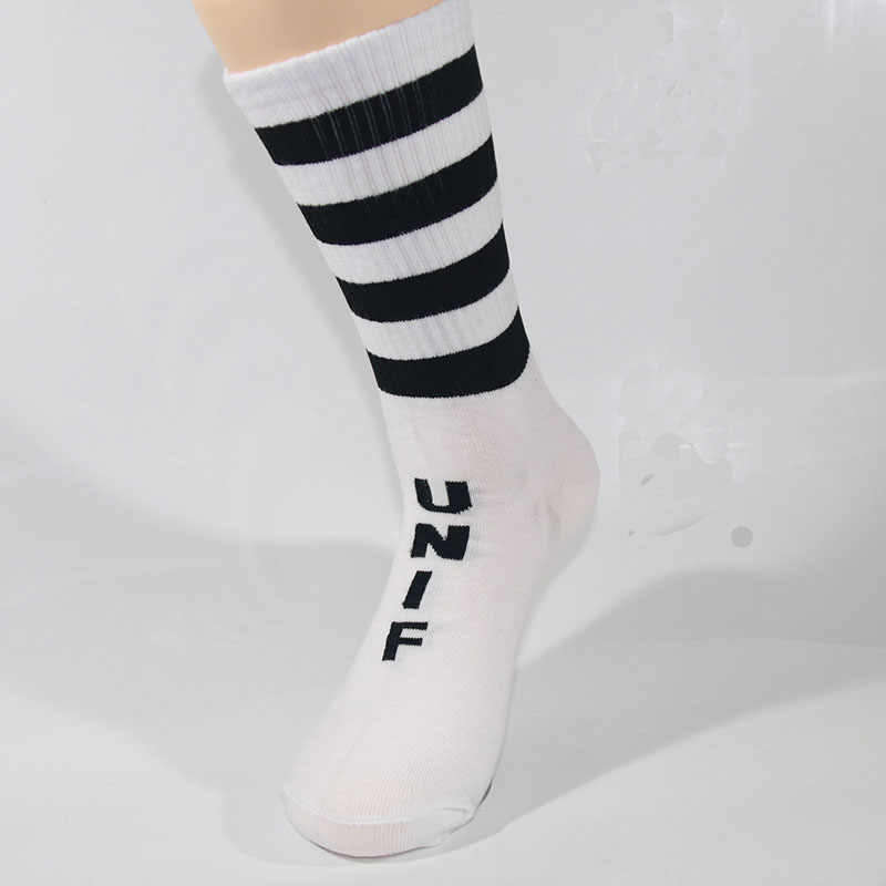 Nieuwe Mode Streep Straat Stijl Sok Rock Roll Hip Hop Jongen Meisje Mannen Vrouwen Sokken Katoenen Lange Gloednieuwe Hoge kwaliteit 4 Pairs/veel