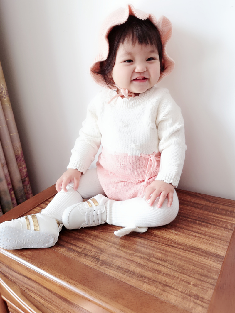 Image 3 - Baby Knitted Conjoined Clothes Autumn Kazakhstan 0 1 2 Years Old Childrens Sweaters  Farts And Climbing Baby BodysuitsBodysuits   -
