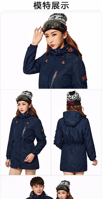 Extérieur grande taille offre spéciale 3 in1 imperméable coupe-vent hommes femmes veste couple respirant sports escalade camping ski amant manteau - 3